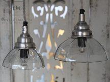 Vintage Vésett Üveg Buráju Mennyezeti Lámpa - 13 cm.