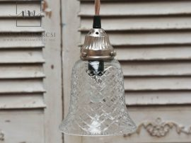 """Vintage """"Csengő"""" Mennyezeti Lámpa - 14 cm."""