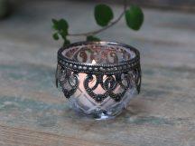Vintage Mécsestartó Antik Ezüst Dekorációval