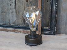 """Antik Fekete """"Diamond"""" Elektromos Lámpa - 17 cm."""
