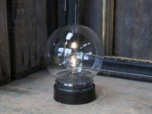 Antik Fekete Elektromos Lámpa - 13 cm.