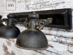 """Antik Fekete """"Factory"""" Mennyezeti Lámpa - 85 cm."""
