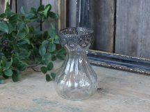 Vintage Francia Váza Ezüst Dekorációval