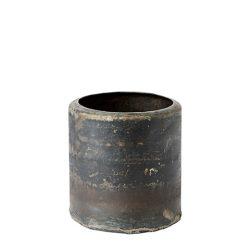 """Vintage Fekete Fém """" TREASURE"""" Kaspó - 10 cm."""