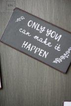 """Vintage Szürke Mágnes """"Only you can make it happen"""""""