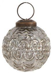 Vintage Ezüst Akasztható Gömb - 5 cm.