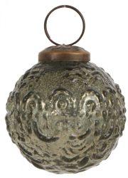 Vintage Olivazöld Akasztható Dísz - 5 cm.