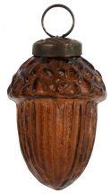 Vintage Borostyán Akasztható Makk - 5,5 cm.