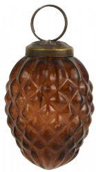 Vintage Borostyán Akasztható Toboz - 6 cm.