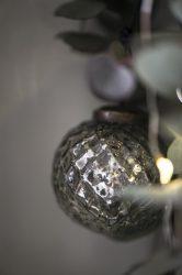 Vintage Olivazöld Akasztható Gömb - 5 cm.