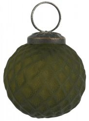 Vintage Olajbogyó Akasztható Gömb - 5 cm.