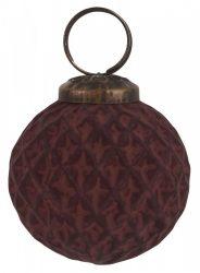 Vintage Bordó Akasztható Gömb - 5 cm.
