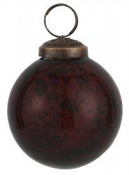 """Vintage Bordó """"Kődarabos"""" Akasztható Gömb - 5,8 cm."""