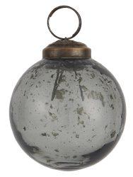 """Vintage Füst """"Kődarabos"""" Akasztható Gömb - 5,8 cm."""