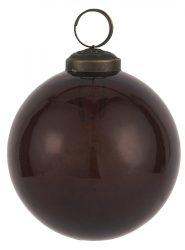 """Vintage Bordó """"Kődarabos"""" Akasztható Gömb - 8 cm."""