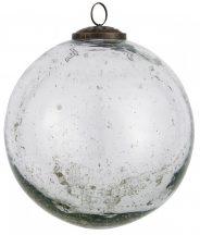 """Vintage """"Clear"""" """"Kődarabos"""" Akasztható Gömb - 13,4 cm."""