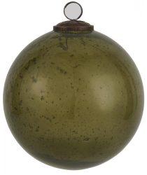 """Vintage Olajbogyó """"Kődarabos"""" Akasztható Gömb - 13,4 cm."""