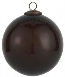 """Vintage Bordó Kődarabos"""" Akasztható Gömb - 13,4 cm."""