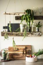 Vintage Bambusz Akasztható Növényszárító Koszorú
