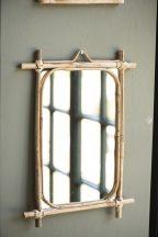 Vintage Bambusz Tükör - 35,5 cm.