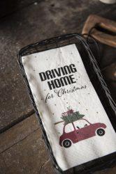 "Vintage ""Driving home for Christmas "" Szalvéta"