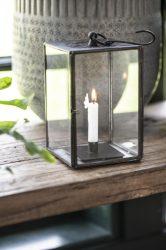 Vintage Fekete Akasztható Lámpás